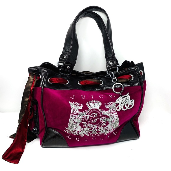 Juicy Couture Velvety Plum Brown Large Tote